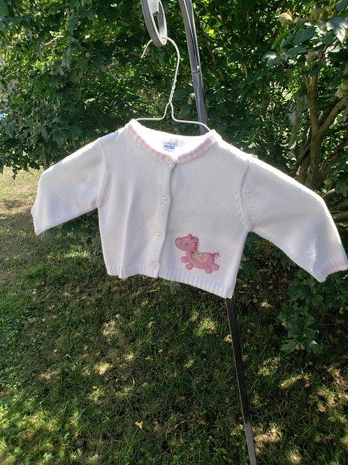 Child of Mine White Sweater w/horse