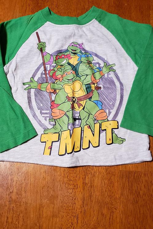 TMNT green sleeves grey 3/4