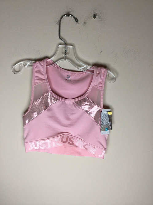 NEW Justice pink size 30 sports bra retails 20