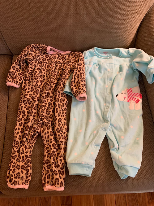 Carters 2 fleece snap Outfits not footed