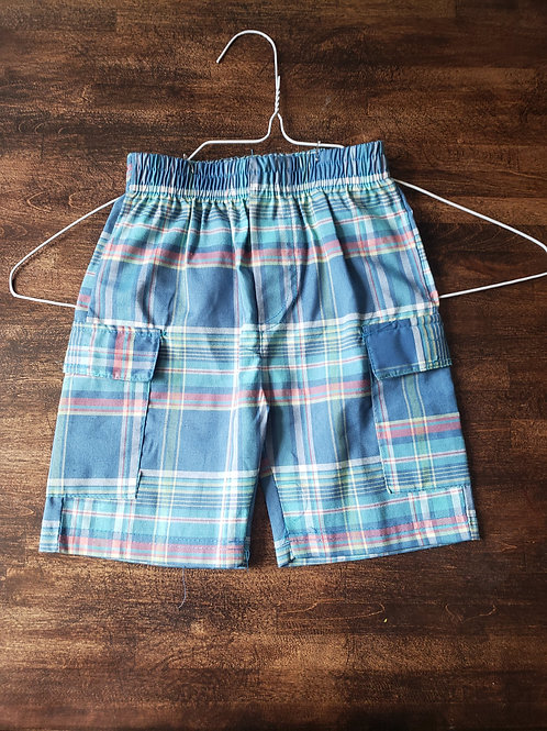 Kids Headquarters Blue plaid shorts