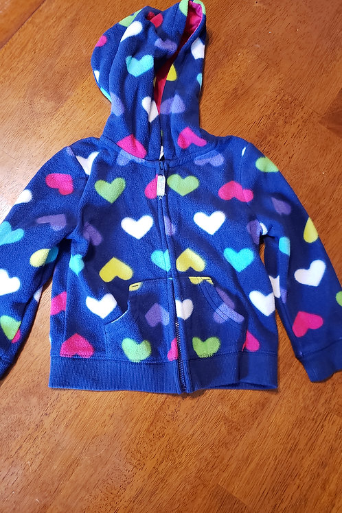 Carters hoodie blue w/ hearts