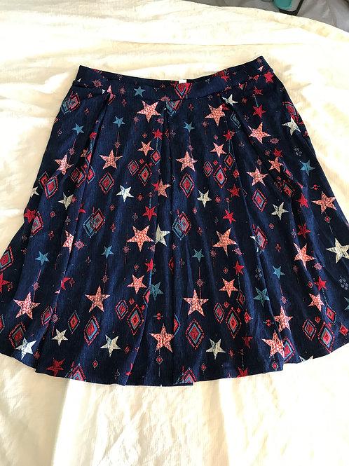 Lularoe Madison skirt Red/white/blue stars XXL