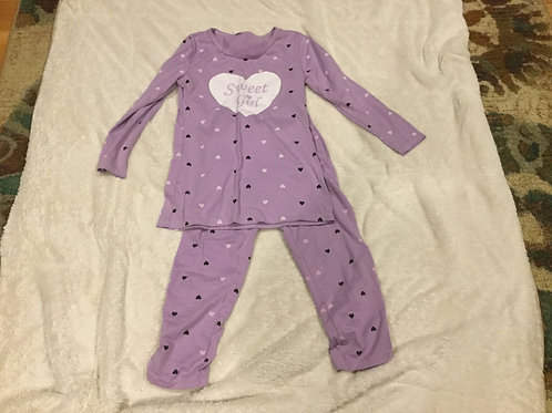 H&M 2 Pc Purple PJs Sweet Girl