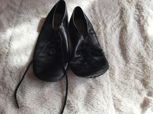 ABT Black Leather Split Sole Jazz Shoes