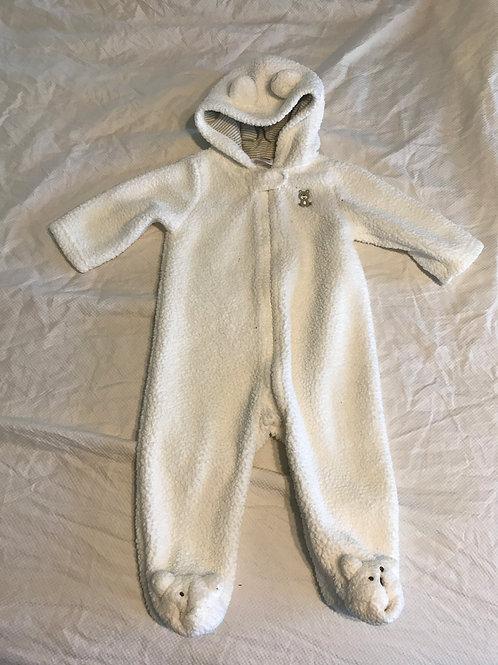 Carters 9m white fleece Snow suit