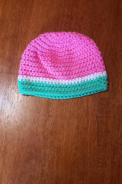 Knitted watermelon beanie