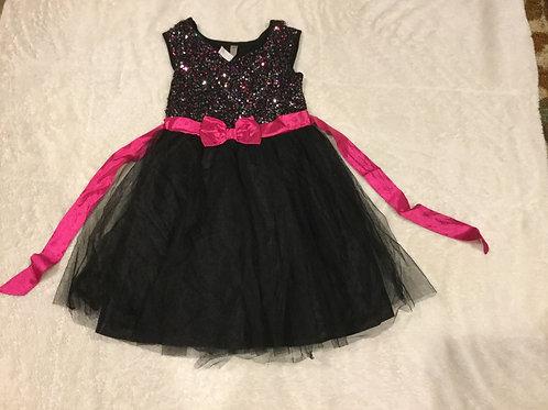 Cherokee Black Pink Sequin Dress