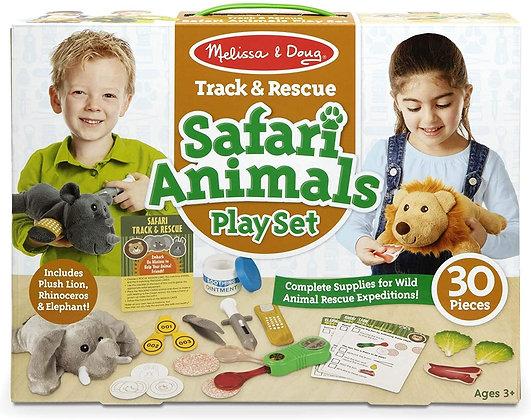Melissa and Doug Track & Rescue Safari Animals Play Set