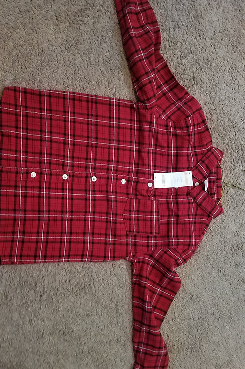 NEW gymbo Ls red Plaid buttondown