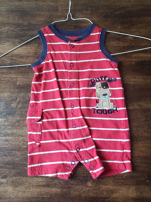 Carters Tank 1 piece Red stripe ruff and tough