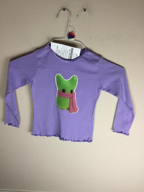 OI Custom Made B purple bunny shirt