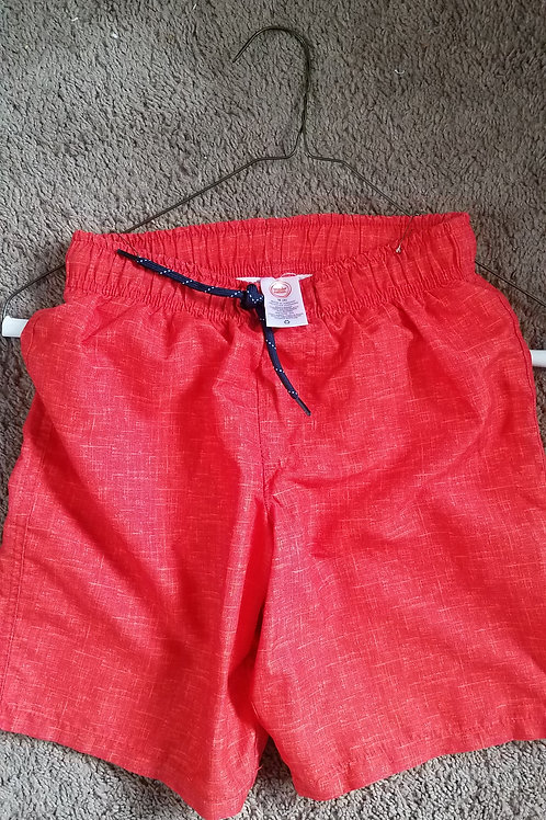 wondernation orange swim shorts w blue tie