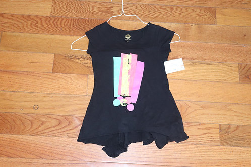 Total girl blk ss multicolor !