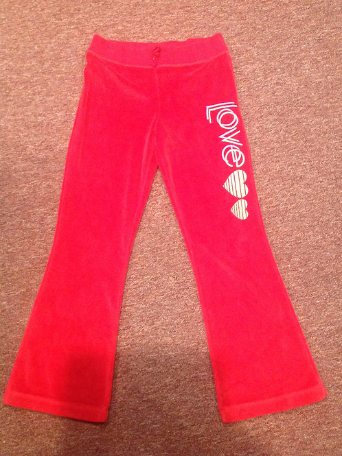 Faded Glory red velour pants love