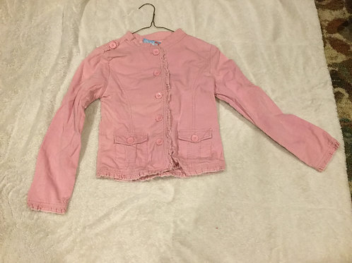 Blue Heart Pink Corduroy Button Up Jacket
