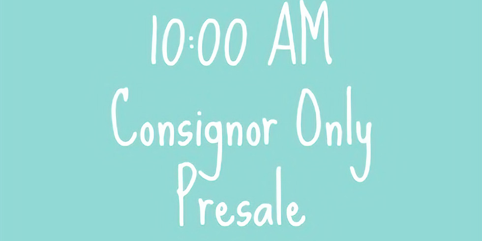 Consignor Only Presale 10a