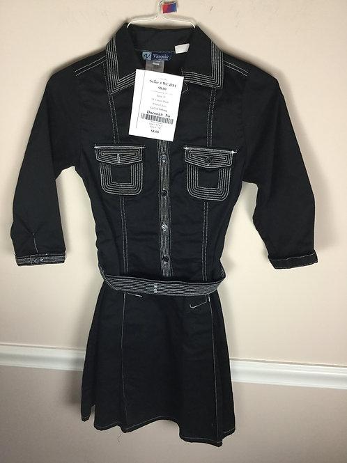 OI Vittorio Black B belted dress