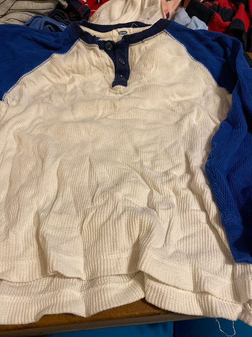 Old navy ls shirt White blue sleeves