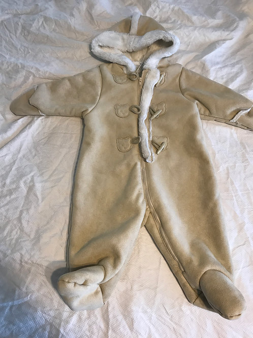 First impressions snow suit Brown w/ white inside
