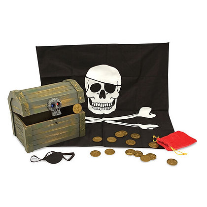 Melissa & Doug Wooden Pirate Chest