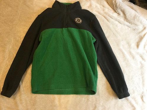 Gray and Green Fleece Bruins Pullover