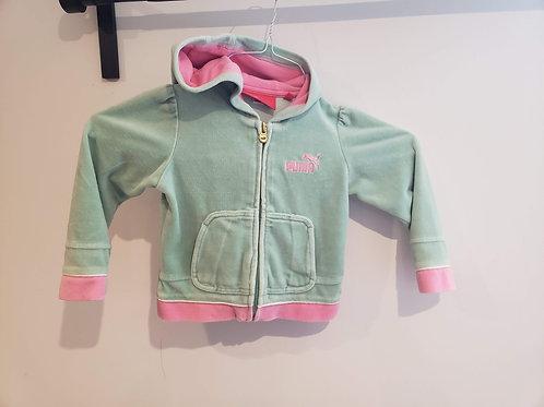 Puma Green/pink Zip hoodie
