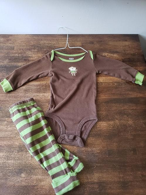Carter's 6M Monkey Bodysuit w/Pants