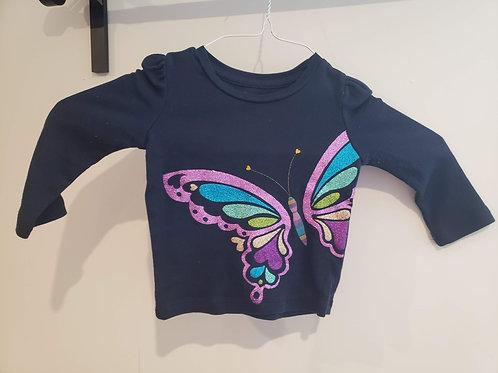 Baby Gap LS w/butterfly