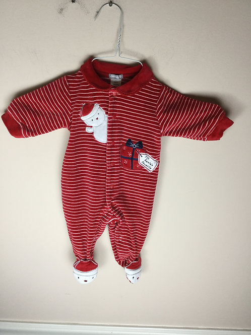 Carters red Santa Velour sleeper