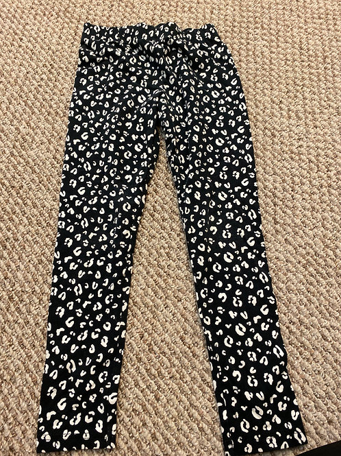 Carters kid leggings Black whitw cheetah
