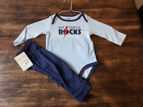 NEW w/ Tag Carters Uncle onesie w/pant