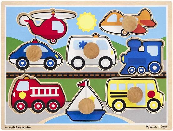 Melissa & Doug Vehicle jumbo knob puzzle