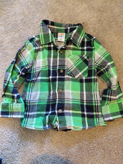 Healthtex Green flannel LS