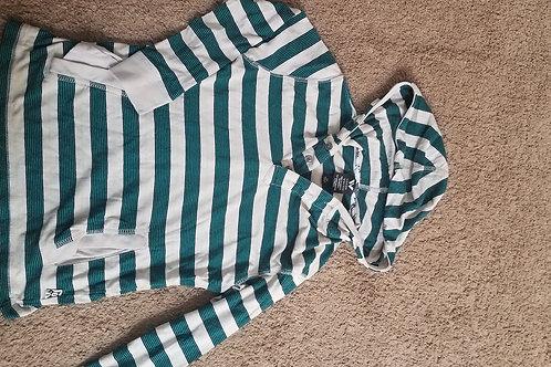 Shaun White ls  hooded Gray green yell striped