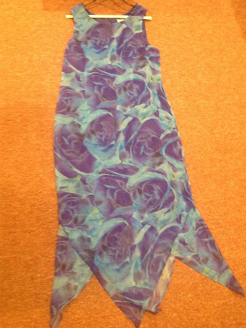 Donna Ricco Sport purple blue dress
