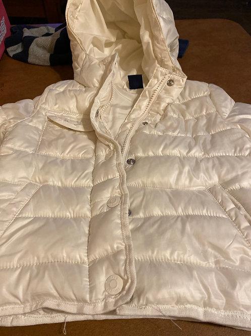 Baby gap white Puffy coat