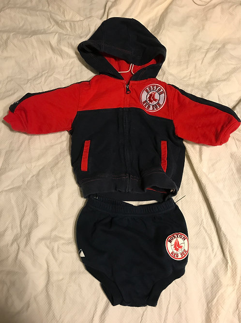 Majestic Red Sox 2pc Sweatshirt/diaper cover