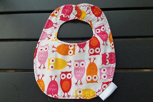 owl bib pnk orange yellow