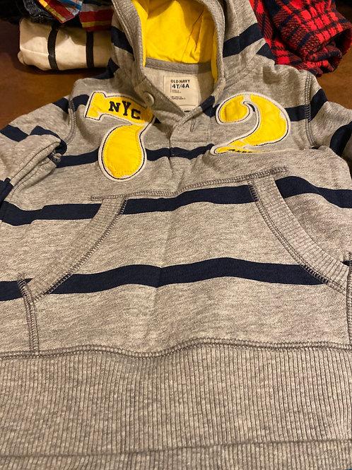 Old navy hoodie Gray blue stripea 72