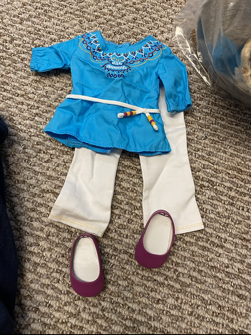 American girl Saige celebration outfit