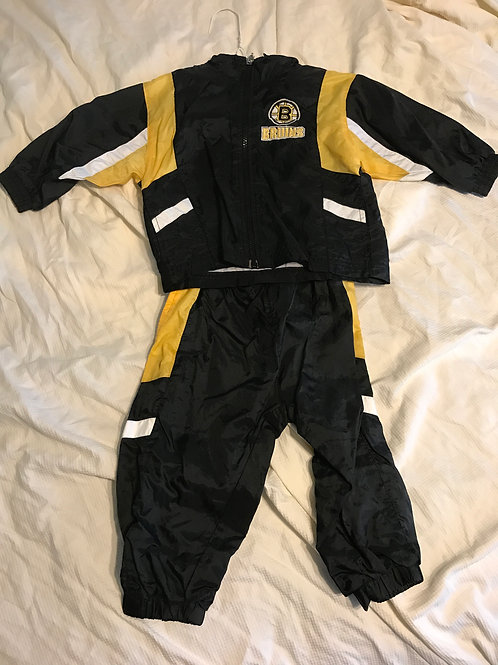 Winning goal 2pc Bruins Track suit- black/yellow