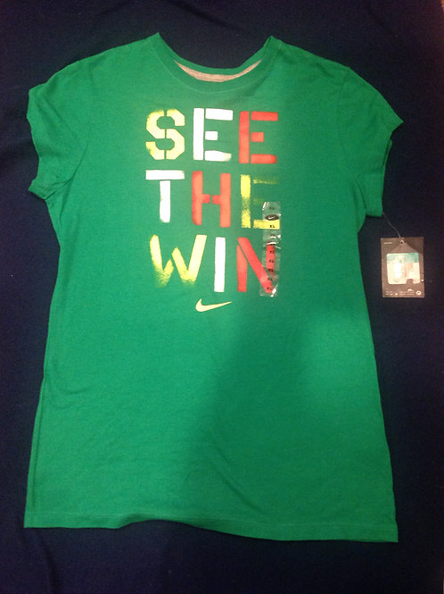 Nike new green shirt see the win