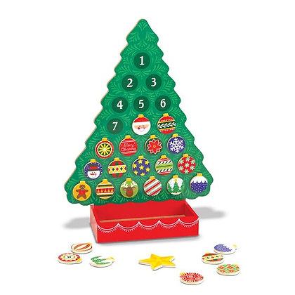 Melissa & Doug Countdown to Christmas Wooden Seasonal Calendar
