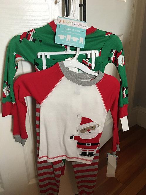 J1U 2 pajama sets Santa