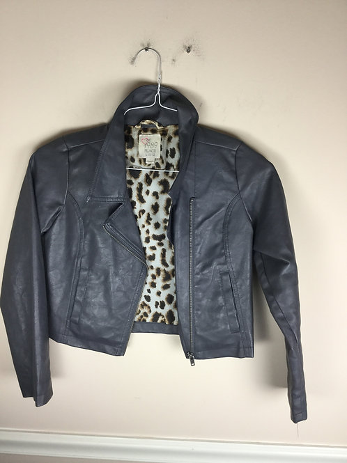 Place gray coat Faux leather