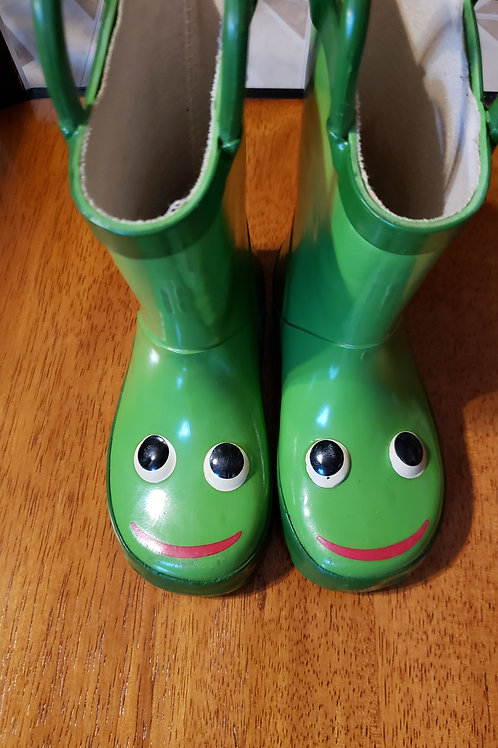 7/8 green rainboots