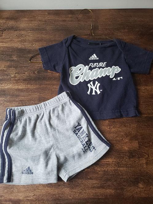 Adidas Yankee Tee/Short Set
