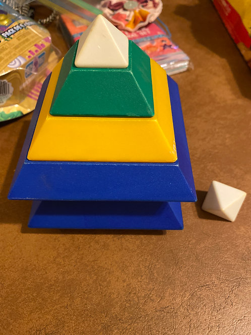 Stacking toy Yellow white green blue
