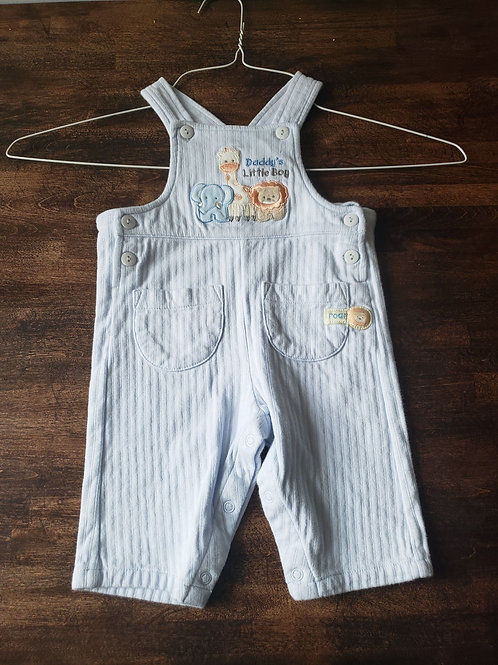 First Moments Layette Blue animal overall